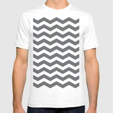 Chev White Mens Fitted Tee SMALL