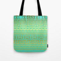 Gold   Greek Tote Bag