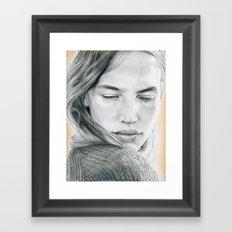 Peach Dreams Framed Art Print