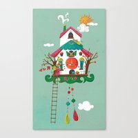 Cuckoo Mouse House Canvas Print