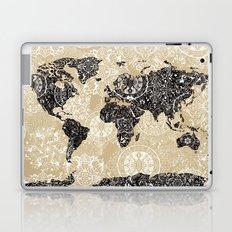world map mandala sepia Laptop & iPad Skin