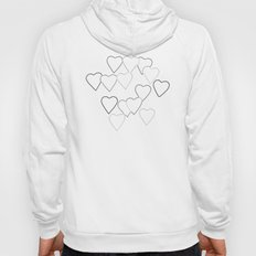 Black and White R Hearts Hoody
