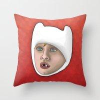 Finn The Human Throw Pillow