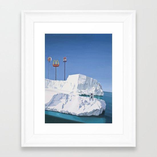 The Iceberg Framed Art Print