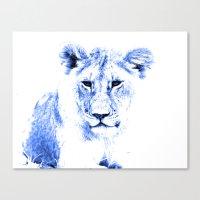 Rainbow Animals Lion Canvas Print