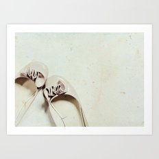 Walk in these shoes Art Print