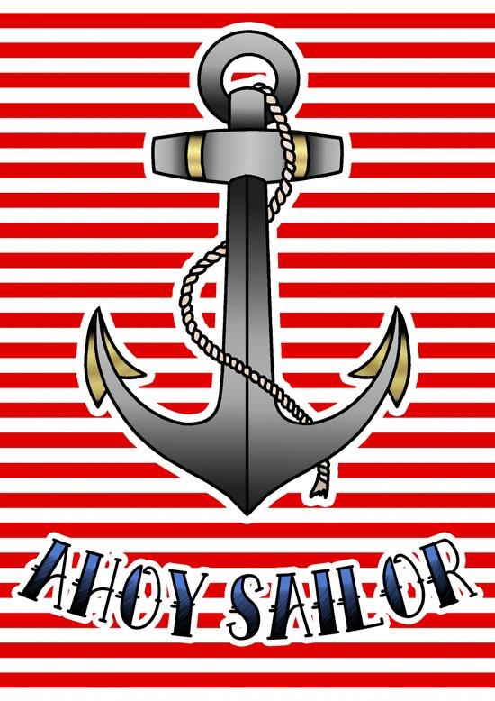 Ahoy Sailor Art Print