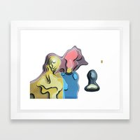 Father, mother and son Framed Art Print