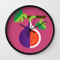 Fruit: Fig Wall Clock