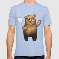 The Little Bear Mens Fitted Tee Tri-Blue SMALL