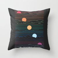 Many Lands Under One Sun Throw Pillow