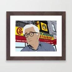 Woody Allen Cartoon Framed Art Print