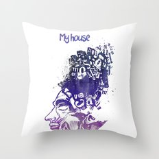 My House Throw Pillow