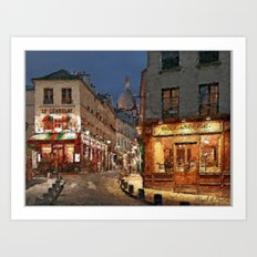 Streets of Paris I Art Print