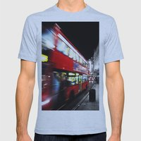 double decker Mens Fitted Tee Athletic Blue SMALL