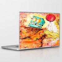happy birthday Laptop & iPad Skins featuring HAPPY BIRTHDAY! by Zach W8