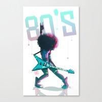 Rock 80's Canvas Print
