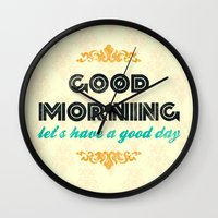 Good Morning, Let's Have… Wall Clock