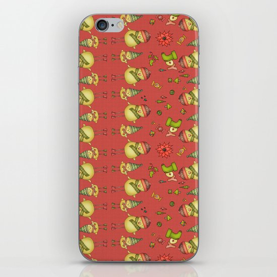 Two Chicks Pattern ~ Red iPhone & iPod Skin