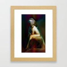 Winged Sitter Framed Art Print