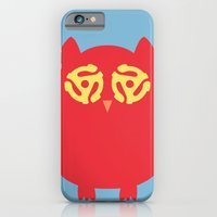 iPhone & iPod Case featuring Owl 45s by owlandchickadee