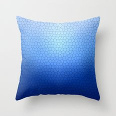 Blue Stained Glass  Throw Pillow