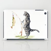 Cat with a Fish iPad Case