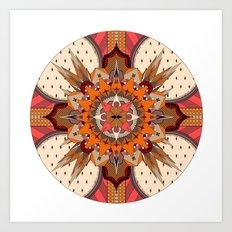 Mandala Crest Art Print