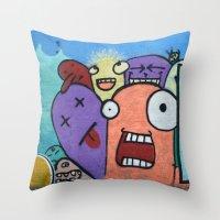 Graffiti Guys Throw Pillow