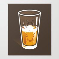 Pessimistic Optimist - alt version Canvas Print