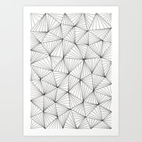 Stripe Triangles Art Print