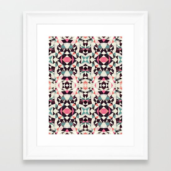 Retro Light Tribal Framed Art Print