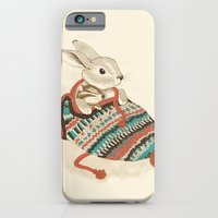 winter iPhone & iPod Cases featuring cozy chipmunk by Laura Graves
