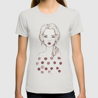 Marsala Womens Fitted Tee Silver SMALL