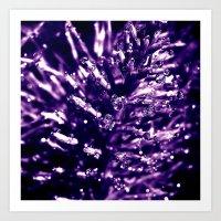 Purple Water Pearls III Art Print