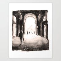 Paris - Passage du louvre Art Print
