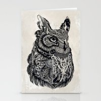 owl Stationery Cards featuring Owl by Feline Zegers