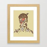 FACES OF GLAM ROCK Framed Art Print