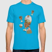 Hot Air Balloon Dream Mens Fitted Tee Teal SMALL
