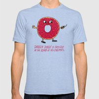 Danger Donut Mens Fitted Tee Tri-Blue SMALL