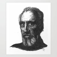 Christopher Lee Art Print