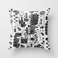 BUILD A CITY Throw Pillow