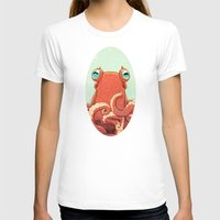 Goldie the Octopus Womens Fitted Tee White SMALL