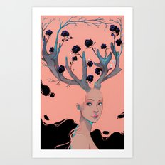 Lady Cornue. Art Print