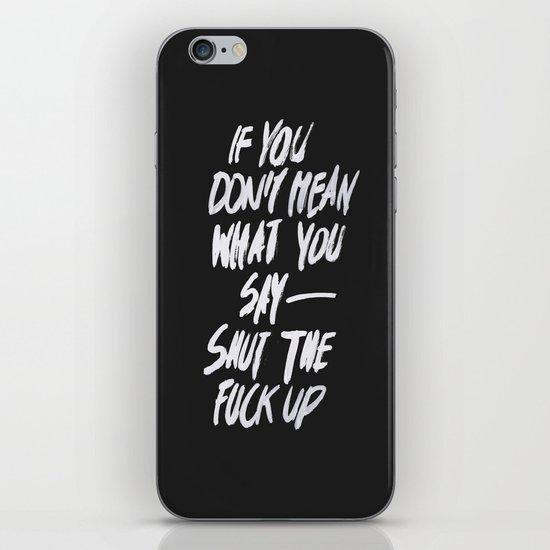 Mean iPhone & iPod Skin