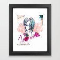 Framed Art Print featuring Plume by Lorène Russo Illust…