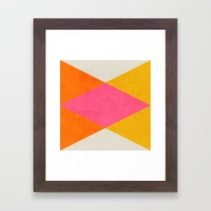summer triangles Framed Art Print