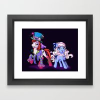Mad T Ponies 'Alice and Tarrant' Framed Art Print