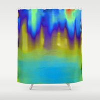The Mystery Pool Shower Curtain