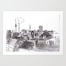 Foggy Berlin Art Print